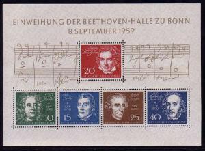 Block 2 Beethovenhalle 1959, Komponisten, postfrisch **