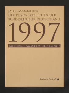 Jahressammlung Bund 1997 mit Ersttagssonderstempel