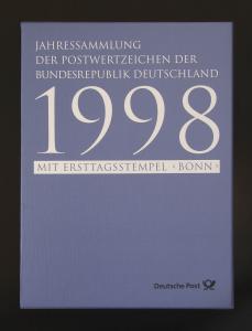Jahressammlung Bund 1998 mit Ersttagssonderstempel