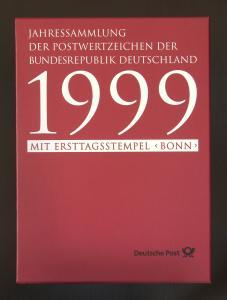 Jahressammlung Bundesrepublik von 1999, mit Ersttagssonderstempel