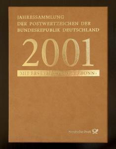 Jahressammlung Bund 2001 mit Ersttagssonderstempel