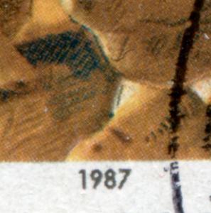 1308I Erhard mit PLF I schwarzer Fleck neben Krawattenknoten, Eckstück, O