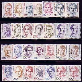 1304 ff Frauen, 24 Werte aus 100er, waag. Paare, Satz **