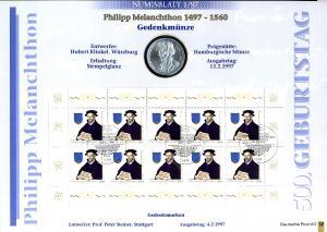 1902 Melanchthon - Numisblatt 1/97 - Erstes Numisblatt Deutschlands!
