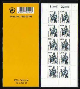 2307 III SWK 2,20 Euro, 10er-Bogen eingeschweißt ** postfrisch