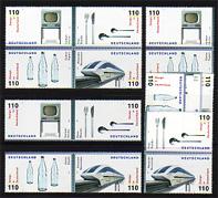 2068-2071 aus Block 50 Design 1999, 5 ZD + 4 Ezm, Zusammendruck-Set **