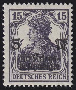 106c Germania 15 Pf seltenere Farbe **, geprüft