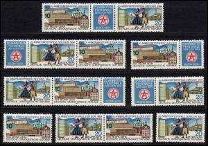2880-2881 Arbeiterfestspiele Gera 1984, 6 Zusammendrucke + 2 Ezm, Set postfrisch