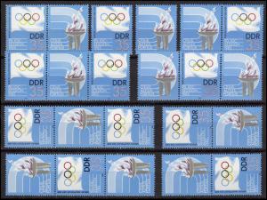 2949 Olympia IOC-Session, 8 Zusammendrucke + Ezm. + Zierfeld, Set postfrisch **