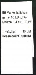 30 MH Europa/CEPT 1994, Banderole für 50 MH