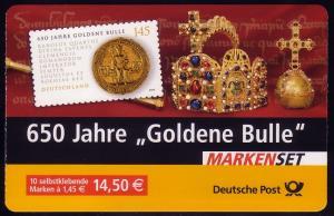 62IbA MH Goldene Bulle **, postfrisches Markenheftchen