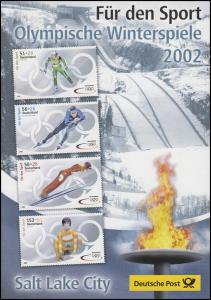 2237-2240a Sporthilfe Winterolympiade 2002 - EB 2/2002