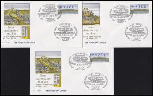 2.1.2 Schloß Sanssouci 6 ATM VS 1 - Schmuck-FDC ESSt DORTMUND NAPOSTA 19.3.93