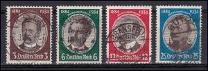 540-543 Kolonialgedenkfeier Kolonialforscher, 4 Werte komplett, Satz gestempelt