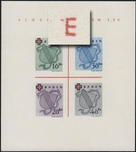 Block 2 Baden Rotes Kreuz Type II/IV (*) original wie verausgabt