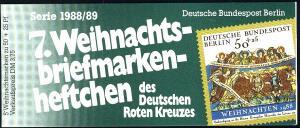 DRK/Weihnachten 1988/89 7. MH Verkündigung der Hirten 50 Pf, 5x829, ESSt Berlin