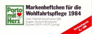 BAGFW/Wofa 1984 Orchideen - Violetter Dingel 80 Pf, 5x1227, postfrisch