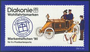 Diakonie/Wohlfahrt 1990 60 Pf. Motorpostwagen, 5x1474, postfrisch