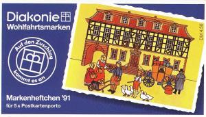 Diakonie/Wohlfahrt 1991 60 Pf. Poststation Büdingen, 5x1564, postfrisch