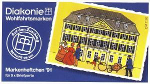 Diakonie/Wofa 1991 100 Pf Postamt Bonn, 5x1567, postfrisch