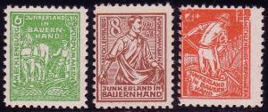 23-25b Bodenreform 1945, Farbe b, Satz **
