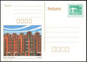 P 91 Rostock: Fünf-Giebel-Haus 10 Pf, postfrisch