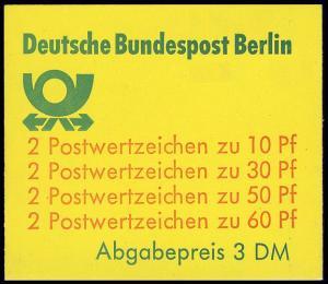 12a MH BuS (rote 60er) gestempelt mit ET-O Berlin 1.11.80