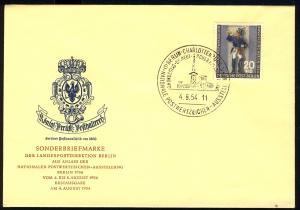 120a Postillion I 1954 - amtlicher FDC 4.8.1954