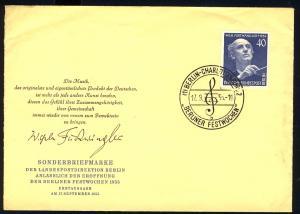 128 Wilhelm Furtwängler 1955 - amtlicher FDC