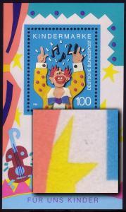 Block 27 Für uns Kinder 1993 mit PLF zwei Punkte rechts neben linken Stern, **