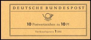 6g MH Heuss 1961, R1, schwarze Bogenlaufnummer **