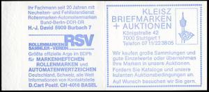 22Ir MH BuS 1980 Buchdruck Variante a - postfrisch