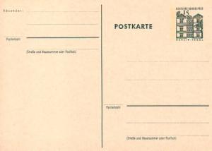 P 82 Bauwerke I 15 Pf Postkarte oben ** wie verausgabt