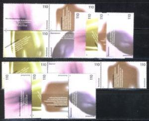 2200-2203 Block 54 Für die Gesundheit 2001, 5 ZD + 4 Ezm, Zusammendruck-Set **