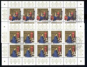1770-1071 Weihnachten Heilige Könige & Christi Geburt, 10er-Bogen-Satz ESSt Bonn