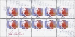 2126 Johann Sebastian Bach - 10er-Bogen **