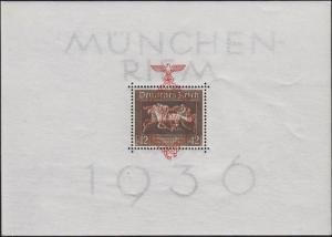 Block 10 mit rotem Aufdruck München-Riem, postfrisch **