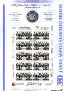 1979 Westfälischer Friede - Numisblatt 1/98
