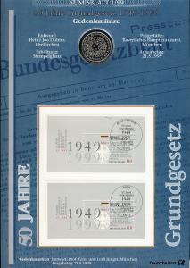 Block 48 Jubiläum 50 Jahre Grundgesetz - Numisblatt 1/99