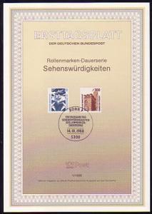 Ersttagsblätter ETB Bund Jahrgang 1988 Nr. 1 - 33 komplett