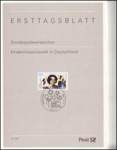 Ersttagsblätter ETB Bund Jahrgang 1996 Nr. 1 - 41 komplett