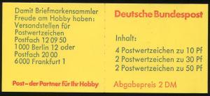 22Ie MH BuS 1980 - 4.DS mit wellenförmiger Schrift, gestempelt MÜNCHEN 3.11.80