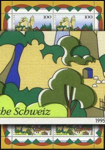 1807 Fränkische Schweiz - Kleinbogen: Passerverschiebung olivgrün **