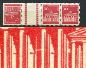 288I Brandenburger Tor 30 Pf. als 4er-ZD mit PLF 288I ** geprüft Schlegel BPP