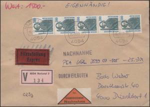 1381 SWK 280 5er-Streifen mit Nummer portoger. eigenhändig NN-Wert-FDC Nettetal