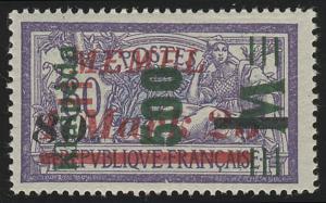 Memel 166 Aufdruck grün 500 M 1923, ** postfrisch