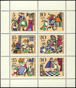 1323-28 Märchen-Kleinbogen 1967, postfrisch