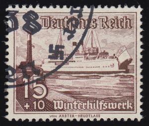 657 Winterhilfswerk Schiffe 15+10 Pf  O