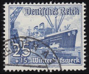 658 Winterhilfswerk Schiffe 25+15 Pf  O