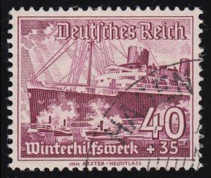 659y Winterhilfswerk Schiffe 40+35 Pf  O